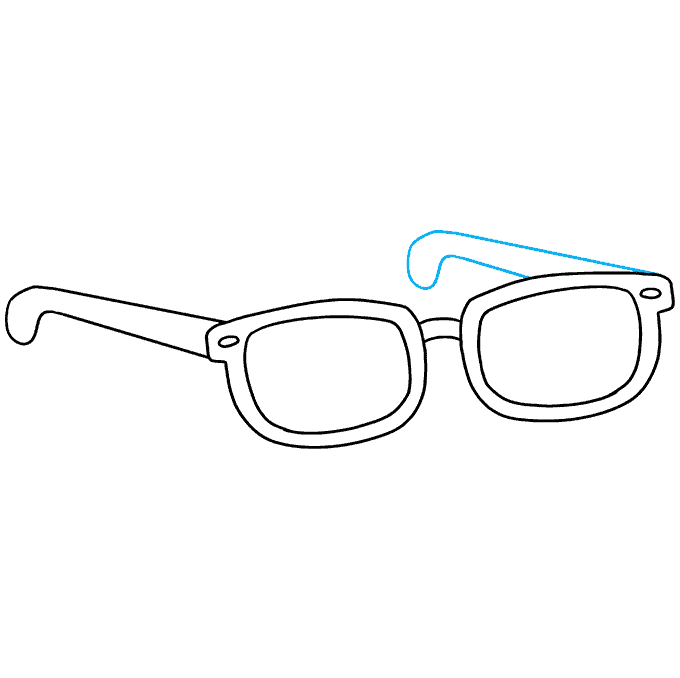 How to Draw Sunglasses: Step 9