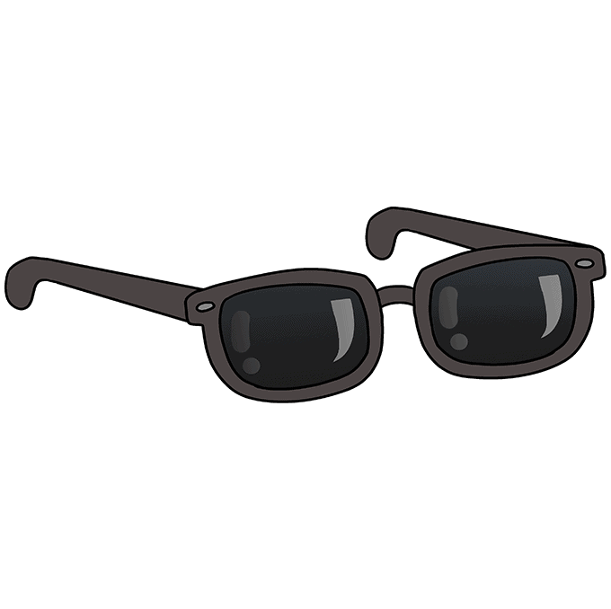 How to Draw Sunglasses: Step 10