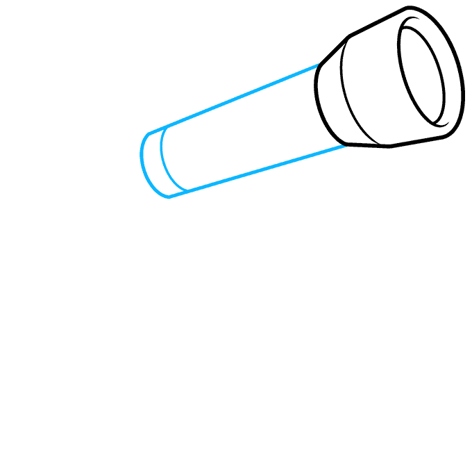 How to Draw Telescope: Step 2