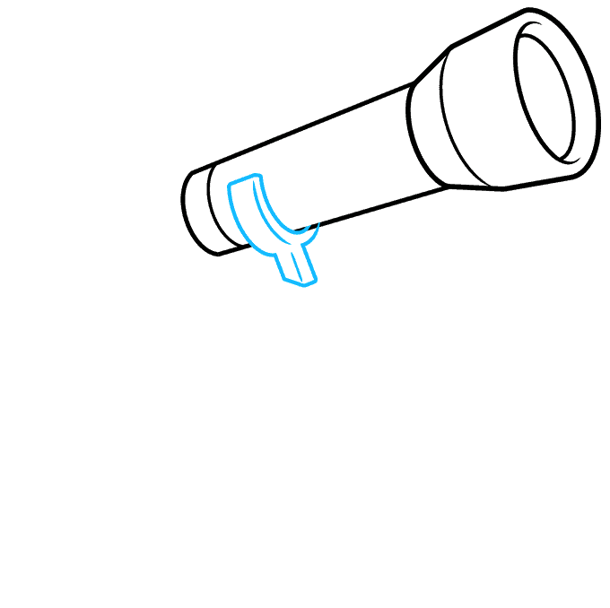 How to Draw Telescope: Step 3