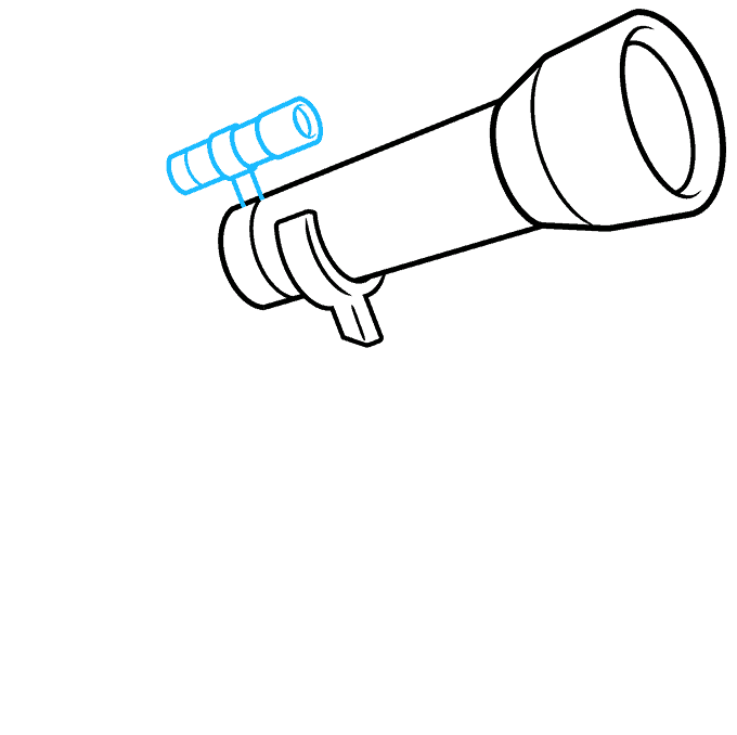 How to Draw Telescope: Step 4