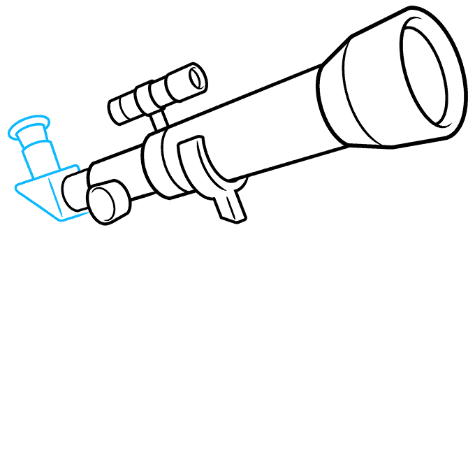 How to Draw Telescope: Step 6
