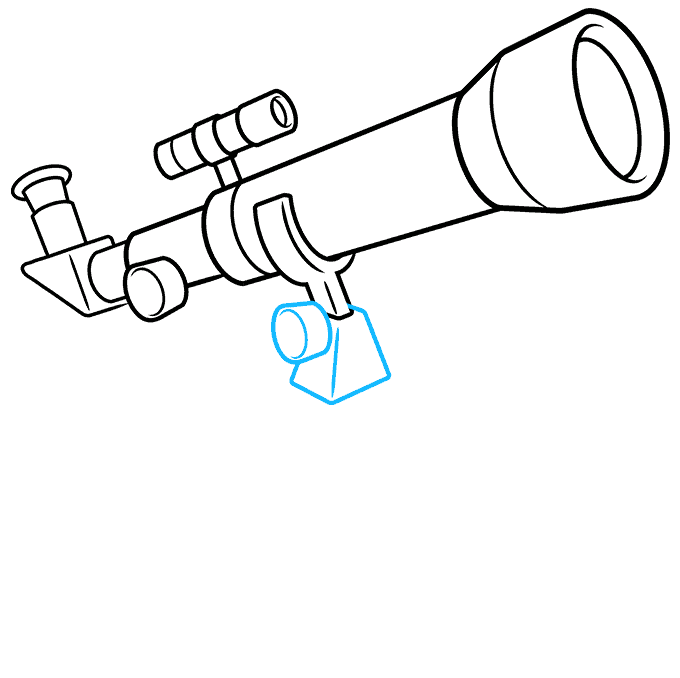 How to Draw Telescope: Step 7