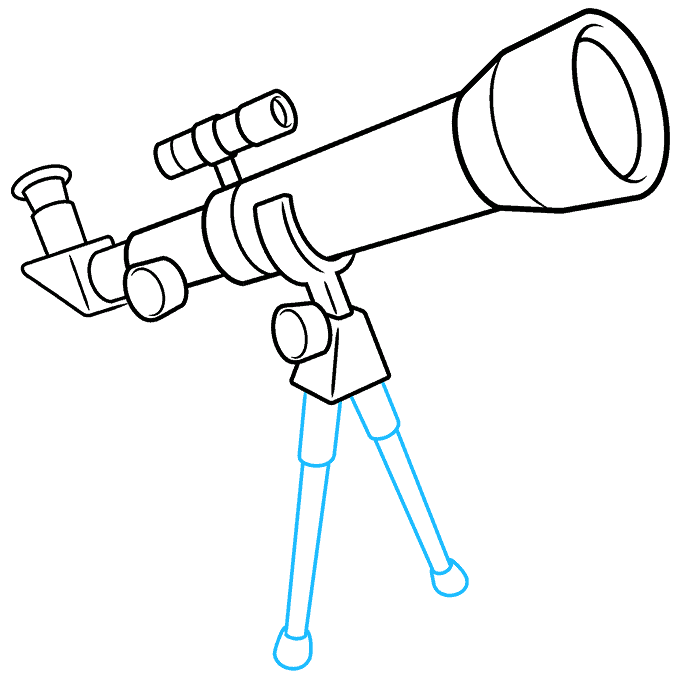 How to Draw Telescope: Step 8