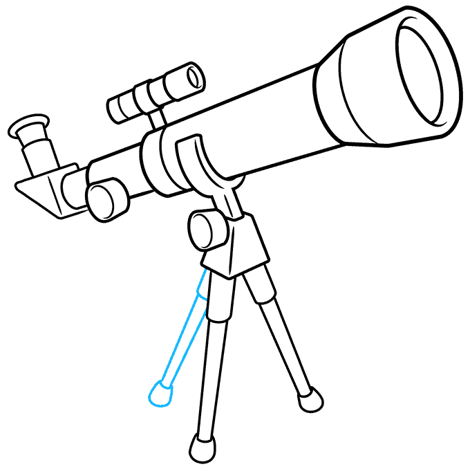 How to Draw Telescope: Step 9