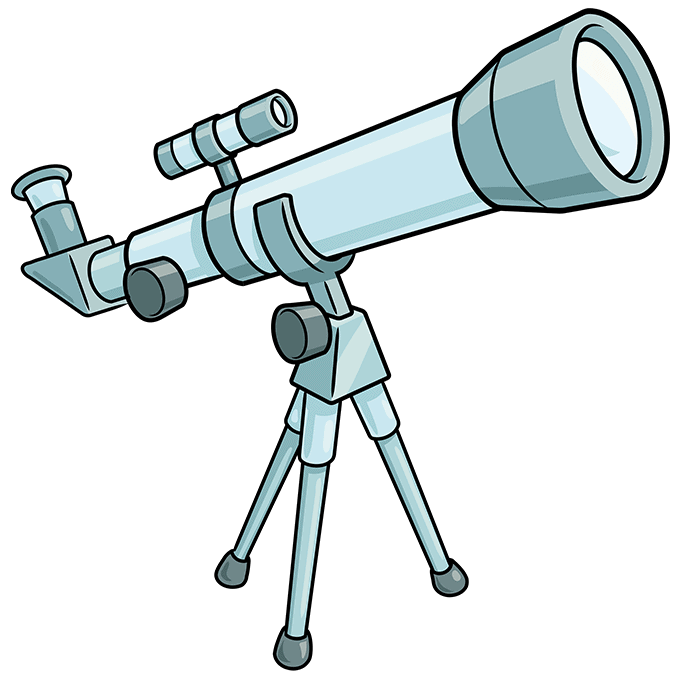 How to Draw Telescope: Step 10