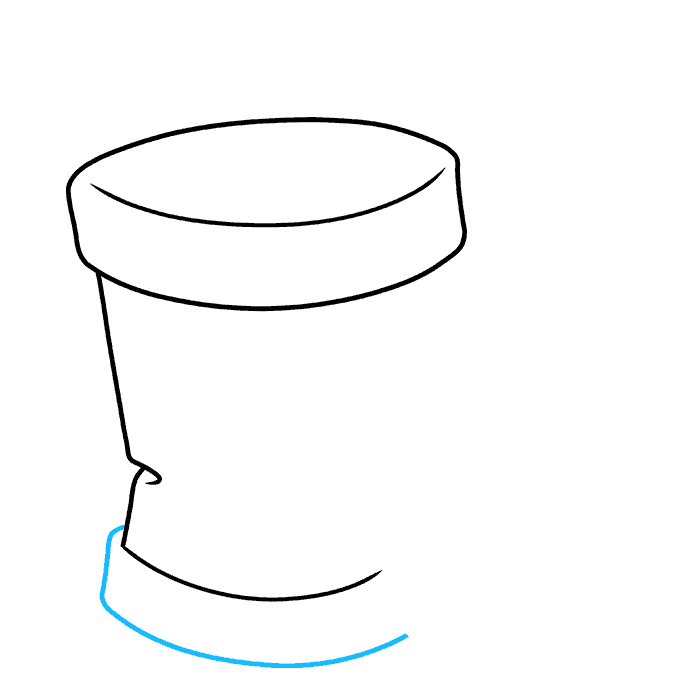 How to Draw Trash Can: Step 3