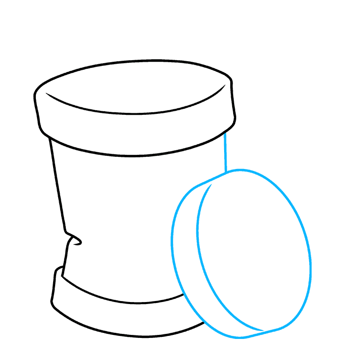 How to Draw Trash Can: Step 4
