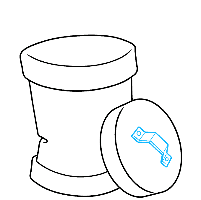 How to Draw Trash Can: Step 5