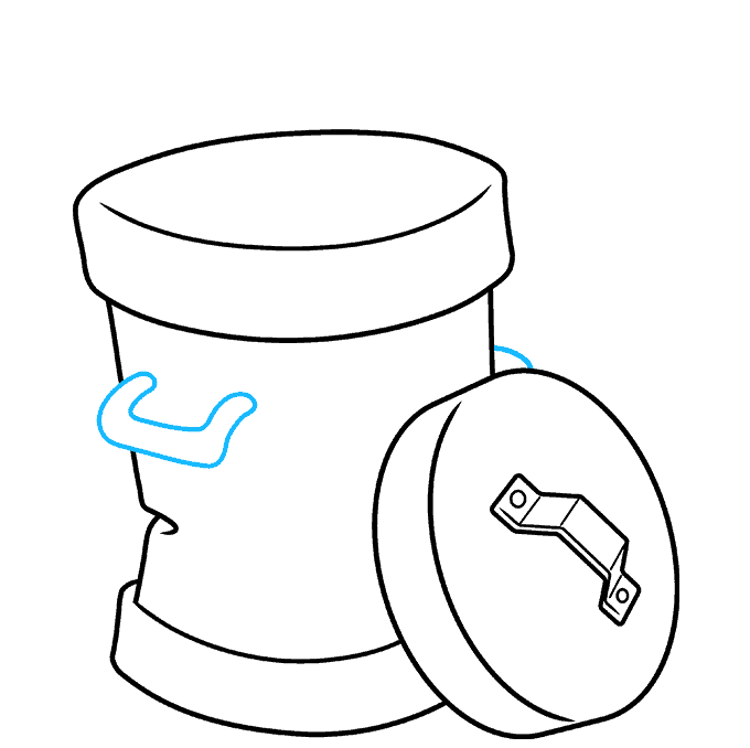 How to Draw Trash Can: Step 6