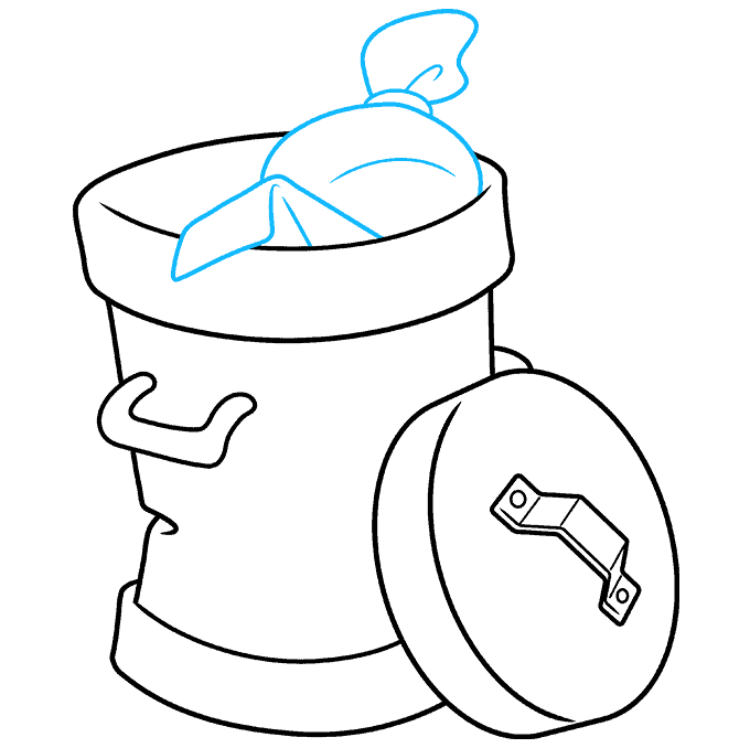 How to Draw Trash Can: Step 7