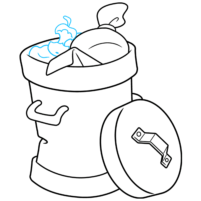 How to Draw Trash Can: Step 8