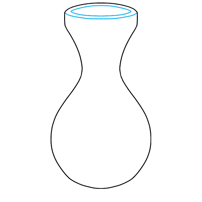 How to Draw Vase: Step 2