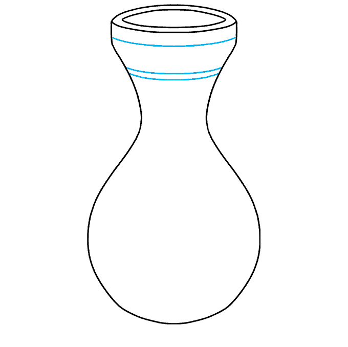 How to Draw Vase: Step 3