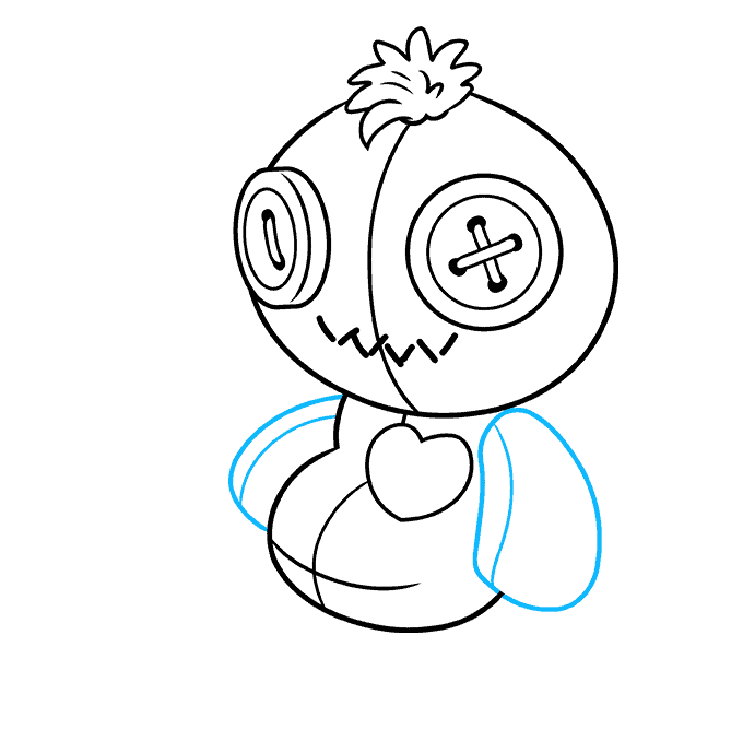 How to Draw Voodoo Doll: Step 6