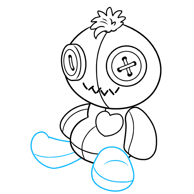 How to Draw Voodoo Doll: Step 7