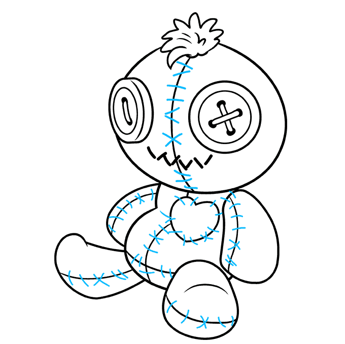 How to Draw Voodoo Doll: Step 8