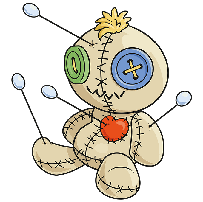 How to Draw Voodoo Doll: Step 10