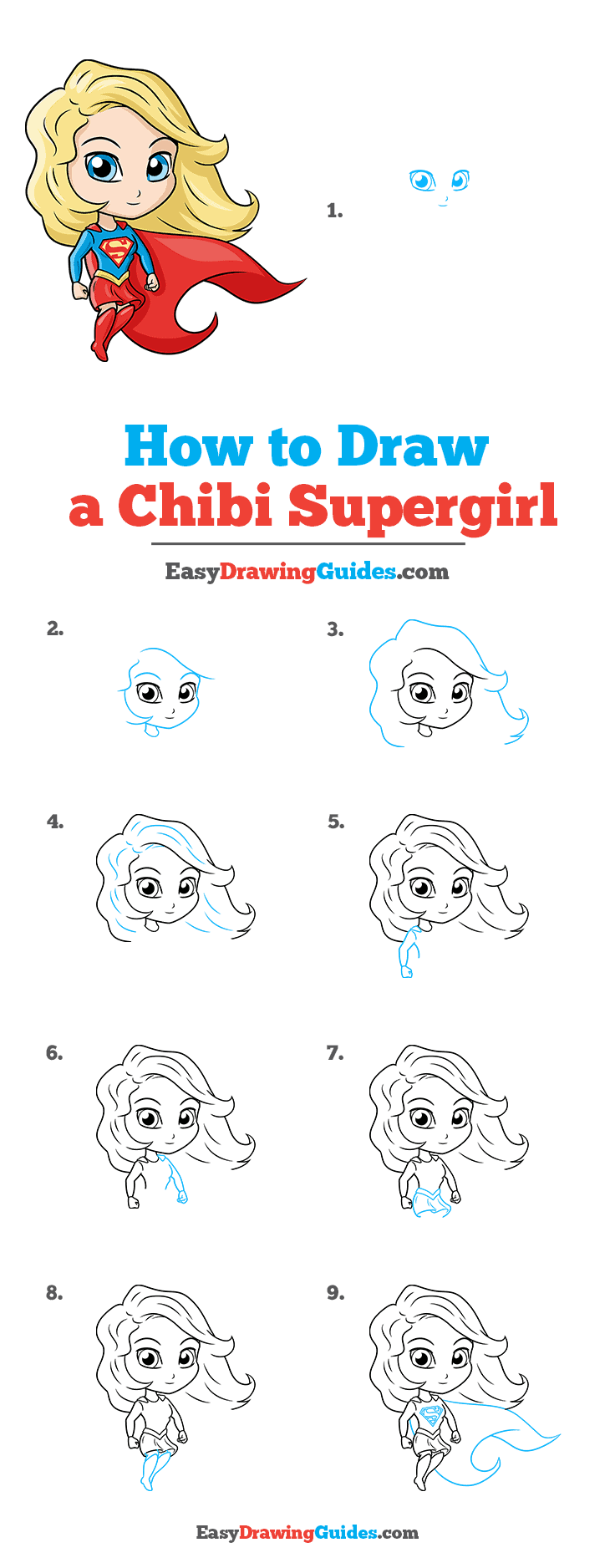 How to Draw Chibi Supergirl