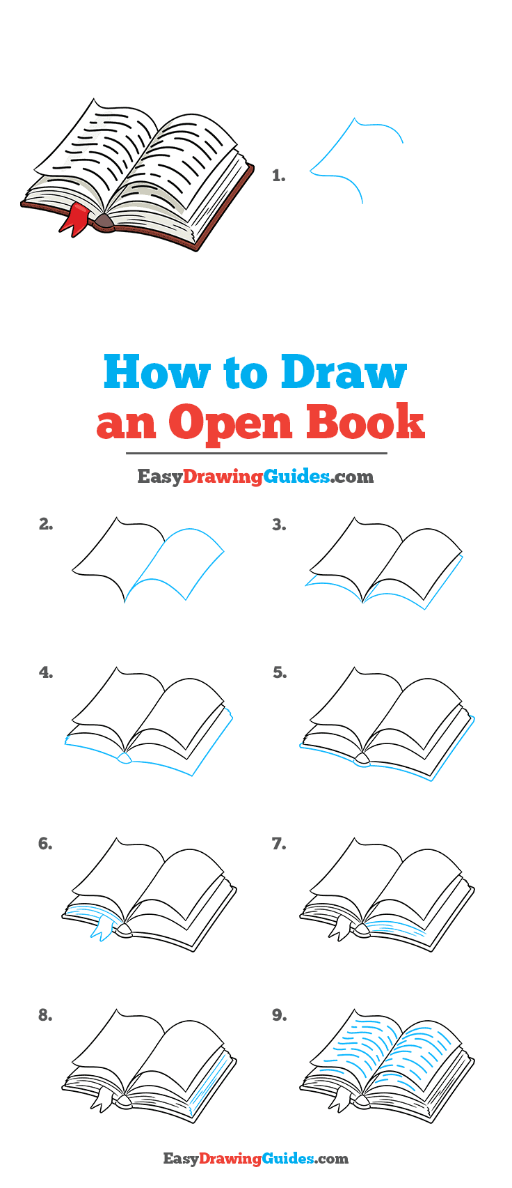 How to Draw Open Book