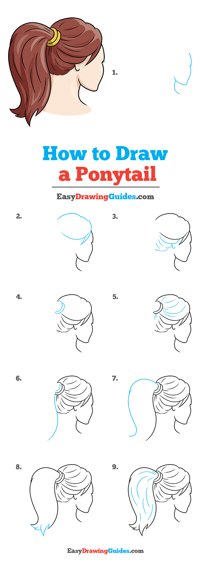 How to Draw Ponytail