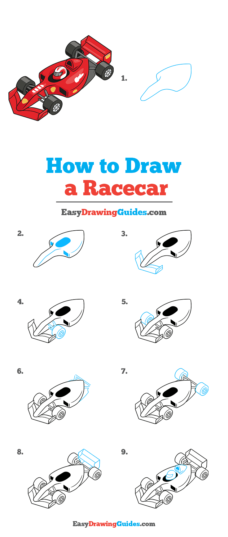 How to Draw Racecar