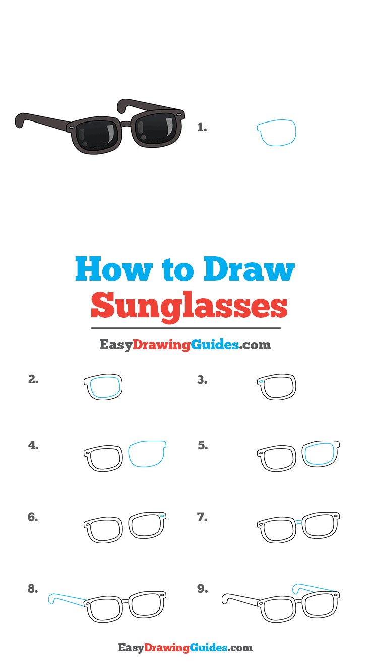 How to Draw Sunglasses