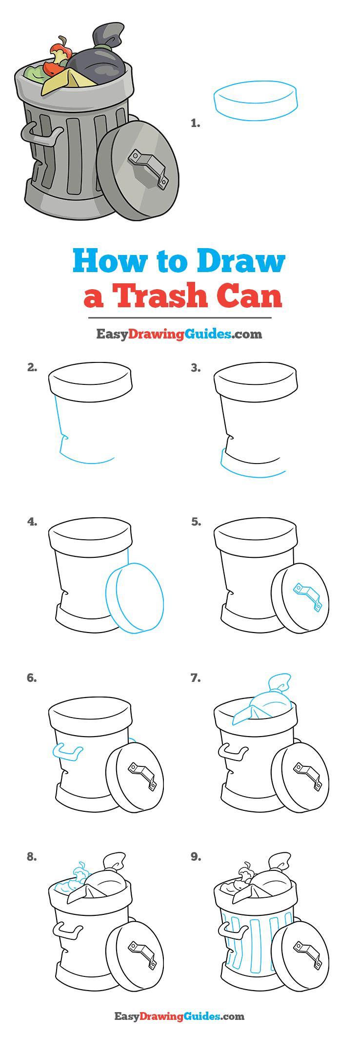 How to Draw Trash Can