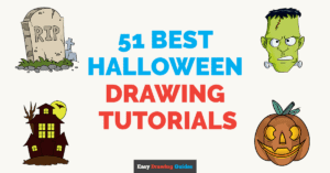 51 Best Halloween Drawing Tutorials - Featured image