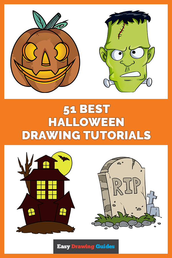 51 Halloween Drawing Ideas Scary But Easy Drawing Tutorials