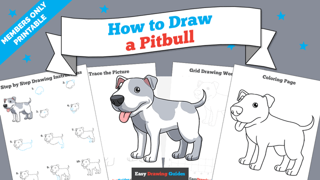 download a printable PDF of Pitbull drawing tutorial