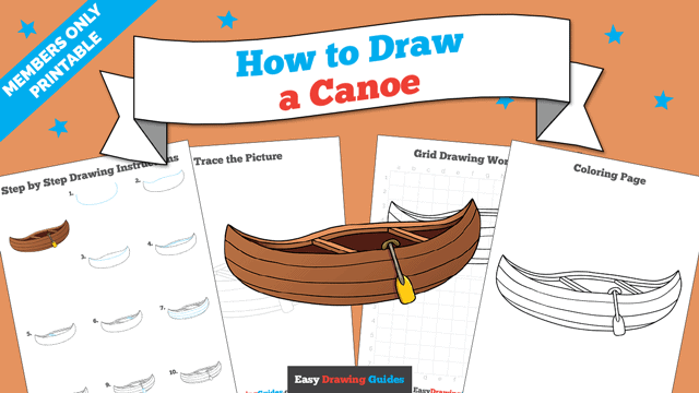 download a printable PDF of Canoe drawing tutorial