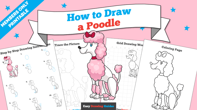 download a printable PDF of Poodle drawing tutorial