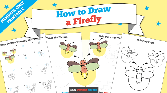 Printables thumbnail: How to Draw a Firefly