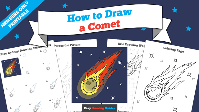 download a printable PDF of Comet drawing tutorial