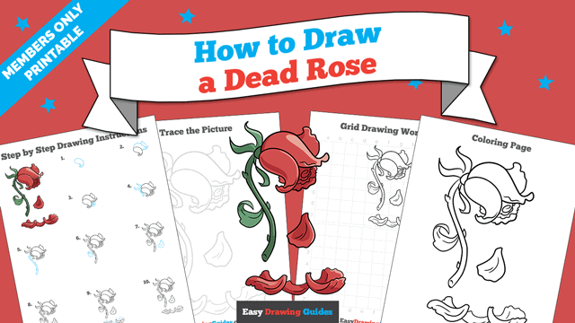 Printables thumbnail: How to Draw a Dead Rose