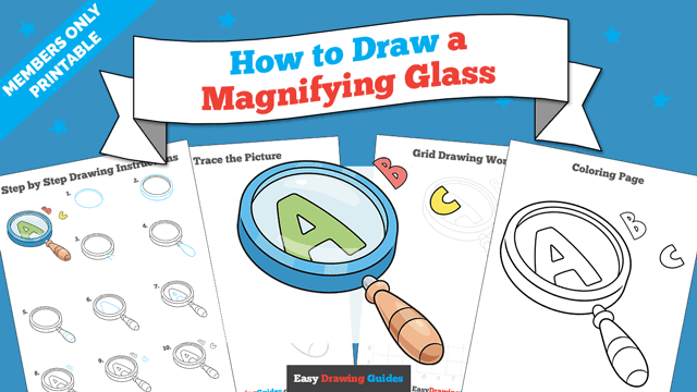 download a printable PDF of Magnifying Glass drawing tutorial