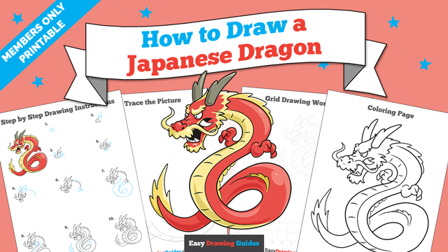 download a printable PDF of Japanese Dragon drawing tutorial