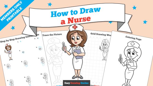 download a printable PDF of Nurse drawing tutorial