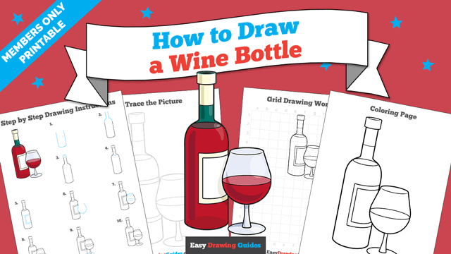 download a printable PDF of Wine Bottle drawing tutorial