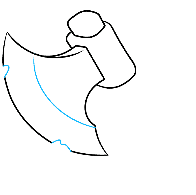 How to Draw an Axe Step 06