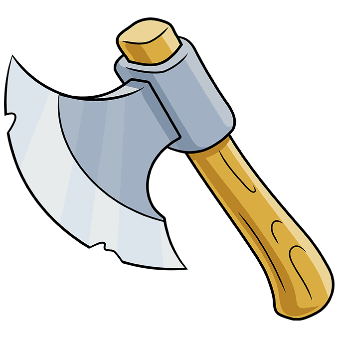 How to Draw an Axe Step 10
