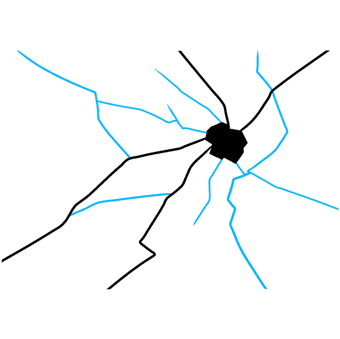 How to Draw Broken Glass: Step 3