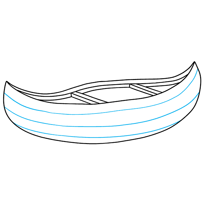 How to Draw Canoe: Step 7