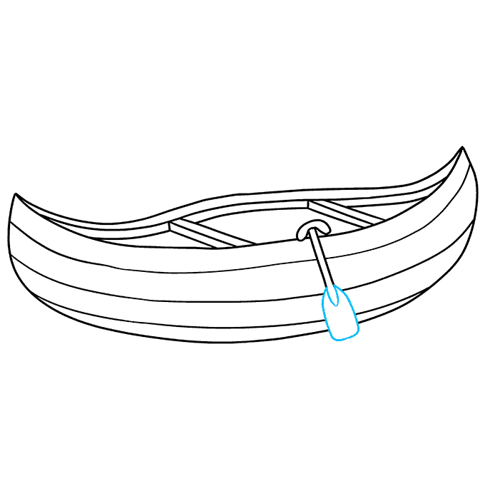 How to Draw Canoe: Step 9