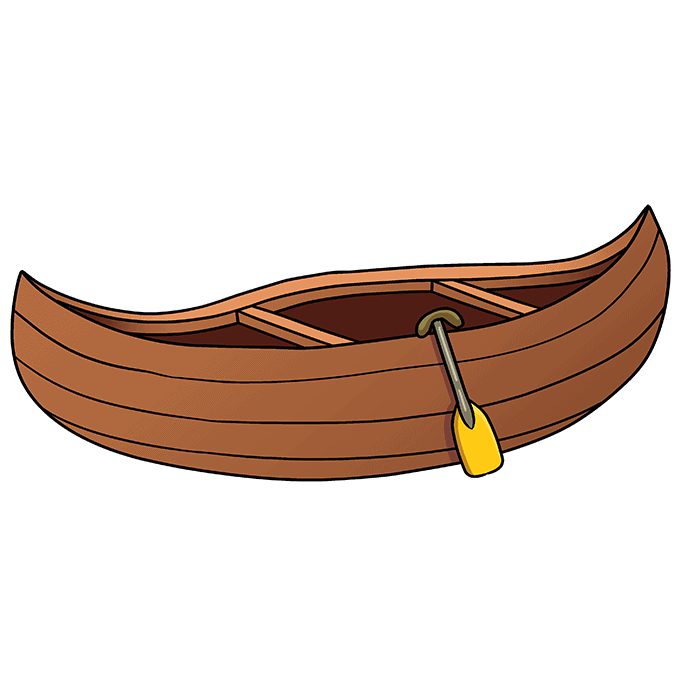 How to Draw Canoe: Step 10