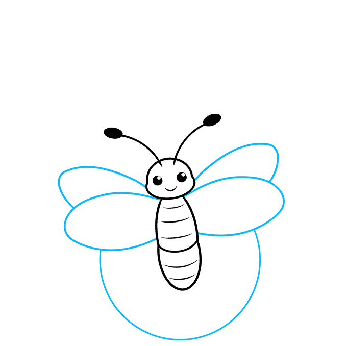 How to Draw a Firefly Step 04