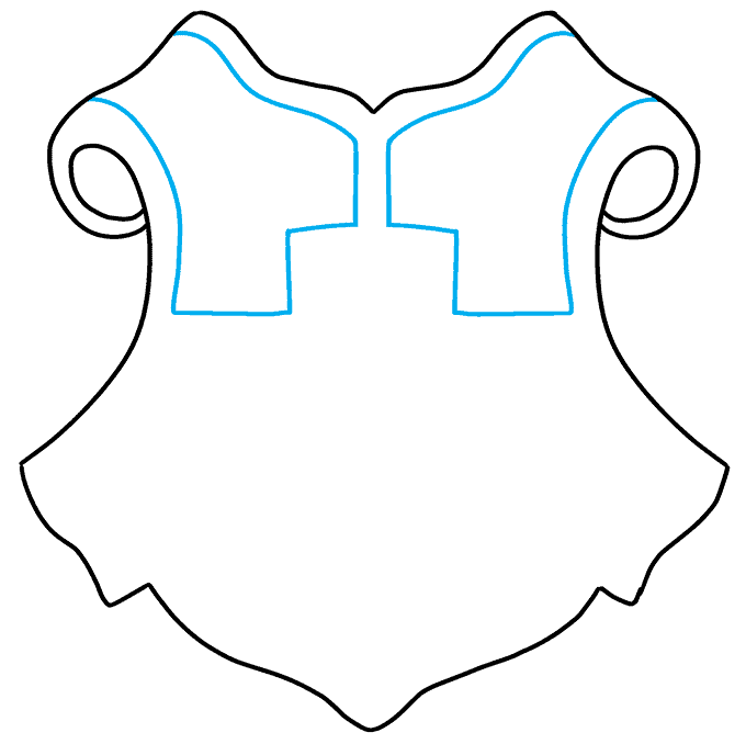 How to Draw Hogwarts Crest: Step 3