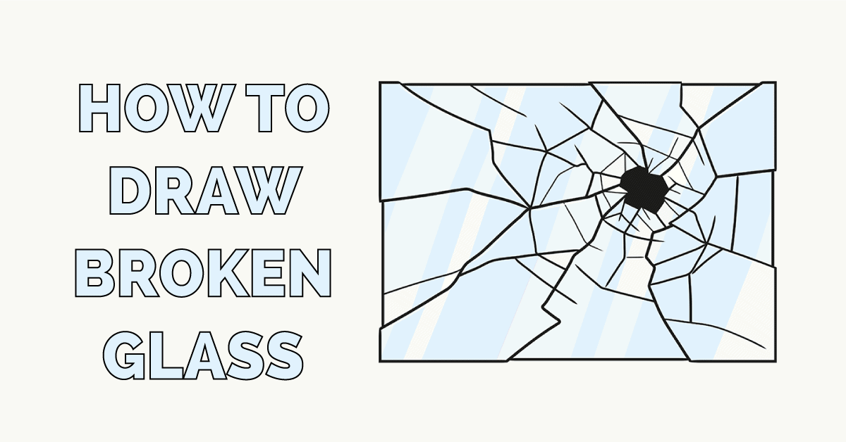 How to Draw Broken Glass Featured Image