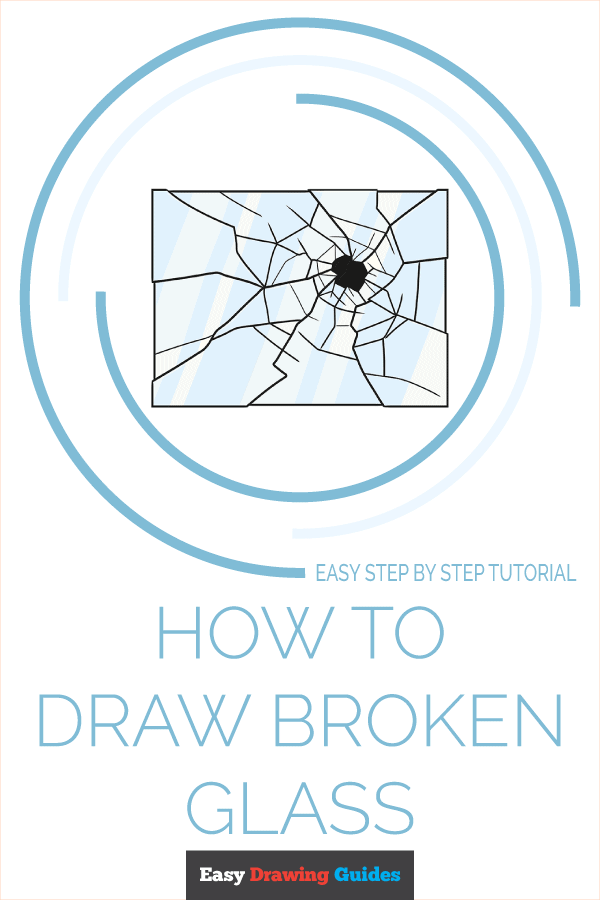 How to Draw Broken Glass | Share to Pinterest
